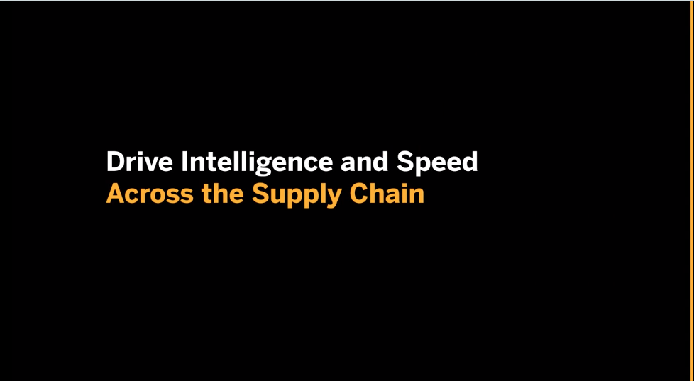 SAP Drive Intelligence and Speed Across the Supply Chain